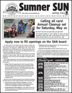 Sumner Spring 2014 newsletter