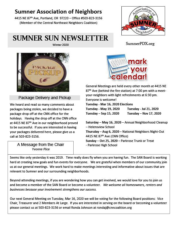 Sumner Sun Winter 2020